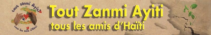 logo bannière tous amis Hati; tout zamis ayiti